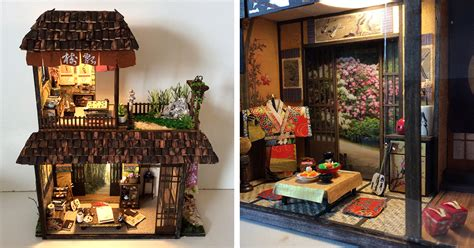 artist crafts detailed dioramas of traditional