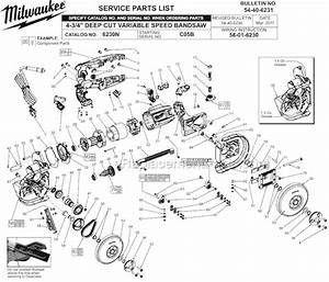 Milwaukee Band Saw 6230n Parts List
