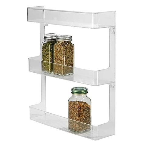 tiered spice racks for kitchen cabinets interdesign 174 cabinet binz 3 tier wall mount spice rack 9463