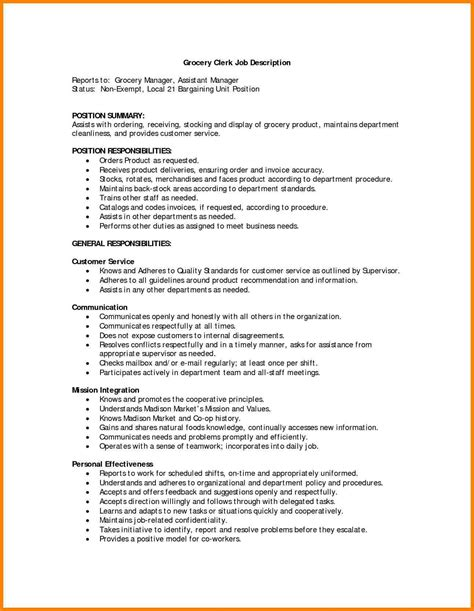 Responsibilities Resume Exle by 9 Retail Manager Description Introduction Letter