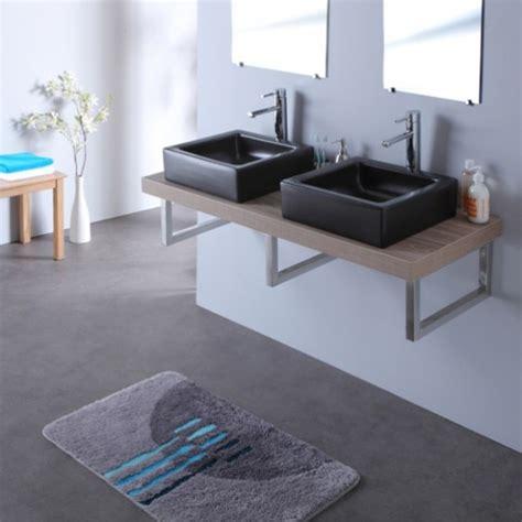 meuble double vasque avec vasque elec noire 120 cm gris