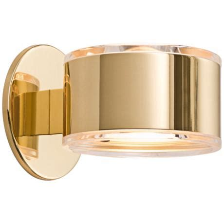 Polished Brass Sconce - holtkoetter up 5 1 4 quot wide polished brass wall sconce