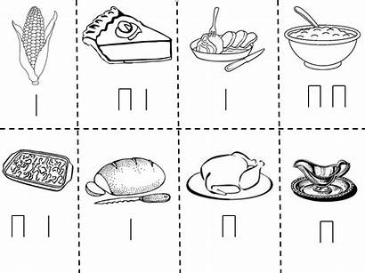 Thanksgiving Dinner Coloring Plate Pages Activites Rhythm
