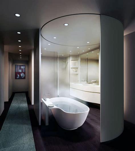 loft master bathroom design  unstudio movable curved wall