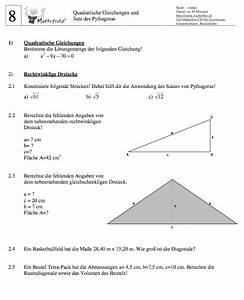 Arbeit Berechnen : satz pythagoras aufgaben klasse 8 9 matheaufgaben satz des pythagoras ~ Themetempest.com Abrechnung
