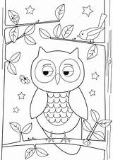 Owl Drawing Simple Coloring Pages Drawings Easy Draw Owls Designs Colornimbus Sketch Paper Getdrawings Template sketch template