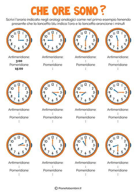 Test Verifica Livello Inglese - l orologio schede didattiche per la scuola primaria