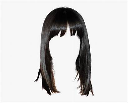 Bangs Clipart Straight Transparent Wig Hairstyle Freetoedit