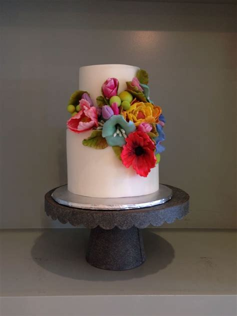 Simple Flower Wedding Cake Spring Flower Cake Bright
