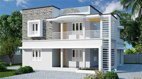 1565 Sq Ft Double Floor Contemporary Home Designs