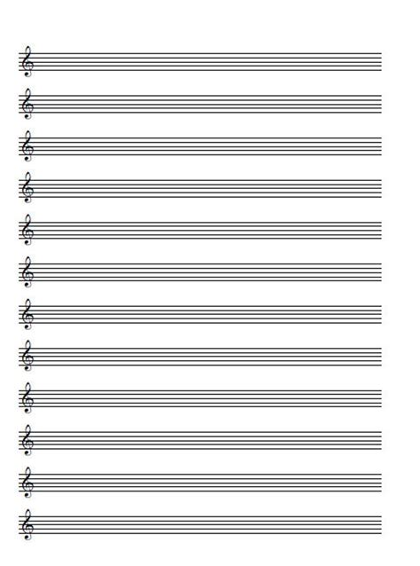 Just fancy it by voting! A4 Music Blank Sheet Treble Clef 8 and 12 staves Printable | Etsy