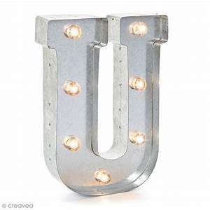Lettre Metal Vintage : lettre lumineuse en m tal vintage u 25 cm lettre lumineuse led creavea ~ Teatrodelosmanantiales.com Idées de Décoration