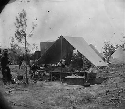Relaxing Photographers Union Camp Siege Petersburg During