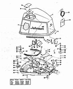Johnson Motor Cover Parts For 1976 85hp 85etlr76g Outboard Motor