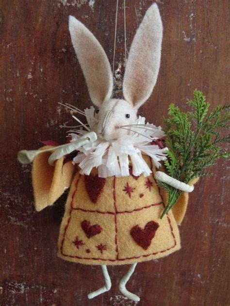 rabbit christmas ornaments kit white rabbit ornament in by