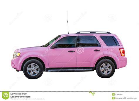 Pink Suv Stock Photo
