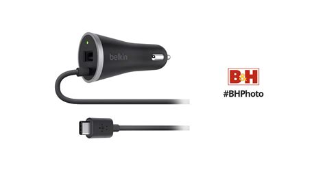 Belkin Usb Type-c Car Charger With Usb Type-a Port