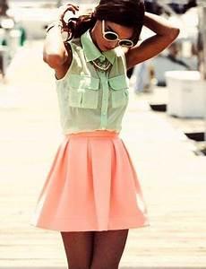 Skater skirts Neon and Mint on Pinterest