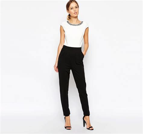 womens casual jumpsuits 2015 fashion embellished neckline casual jumpsuits summer