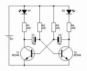 Led Schaltungen Berechnen : astabiler multivirbator mit transistoren led problem ~ Themetempest.com Abrechnung