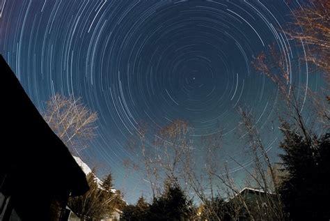star trail night lapsetop world backyard