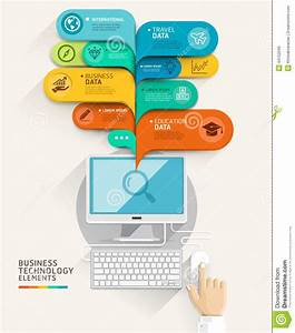Business Technology Concept  Computer And Bubble Speech