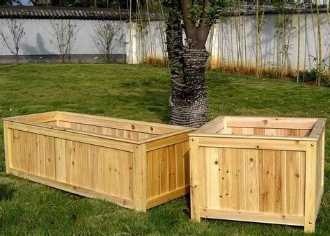 Wood Planter Container