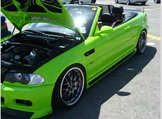 LIME GREEN BMW E46 M3 Prior Design is an Aerodynamic