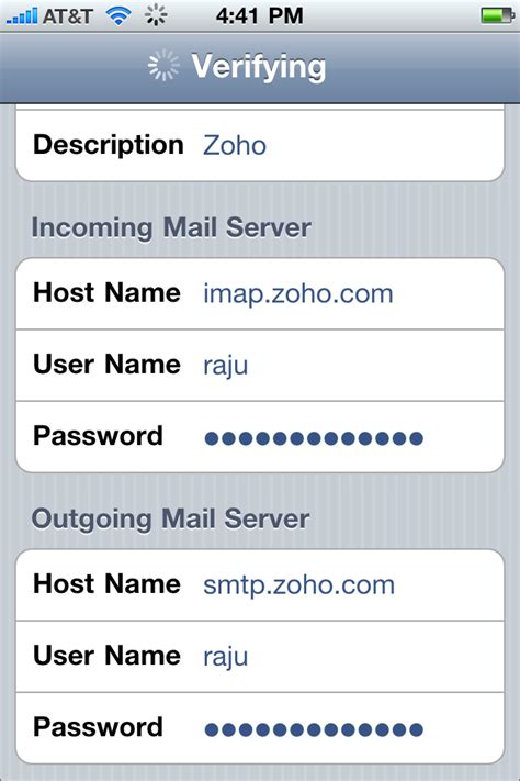 how to name messages on iphone accessing zoho mail on iphone through imap 171 zoho