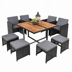 Gartenmöbel Set 8 Personen : polyrattan garten set rattan sitzgruppe gartenm bel rattanm bel grau 8 personen ebay ~ Orissabook.com Haus und Dekorationen