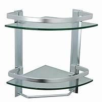 glass corner shelves Review of Glass-based Bathroom Corner Shelves
