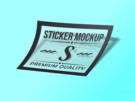 Sticker Mockup Free Free Photorealistic Transparent Sticker Mockup Psd
