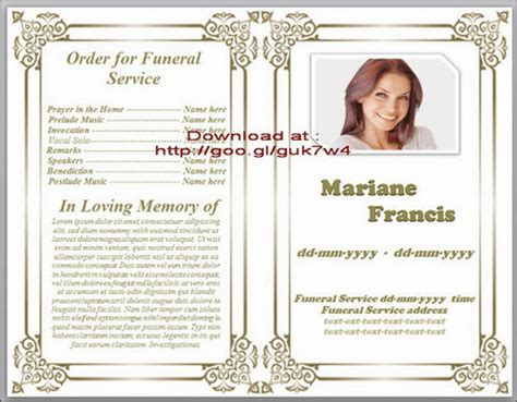 free obituary template funeral in funeral program templates scoop it