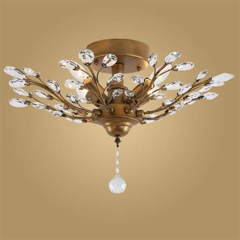 l shades that attach to light aliexpresscom buy modern crystal ceiling light fixtures