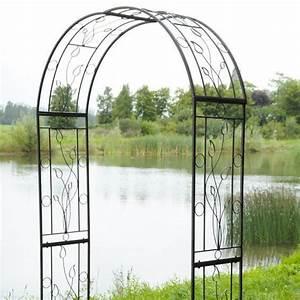 Arche De Jardin En Fer Forgé : arche fer forge pour plantes grimpantes ~ Premium-room.com Idées de Décoration