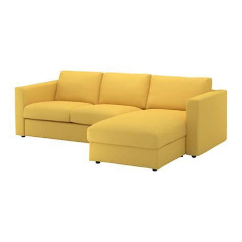 canapé jaune ikea vimle canapé 3 places avec méridienne orrsta jaune doré