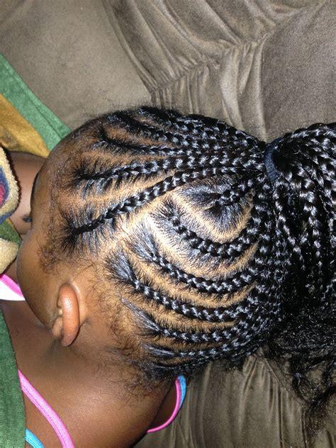 side pony cornrows hair styles kids braided