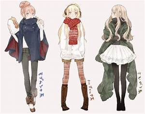 Anime For > Anime Girl Winter Outfit | Clothing References ...
