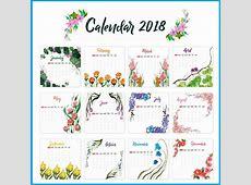 2018 Yearly Printable Calendar Latest Calendar