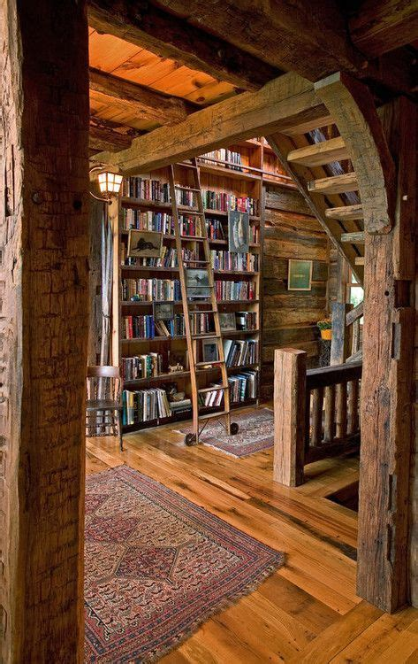 Cabin Library Via Reddit  Creative Houses