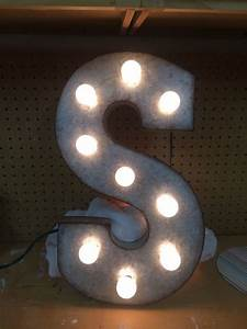 Metal letter from hobby lobby drill holes add lights for Metal letters with lights hobby lobby