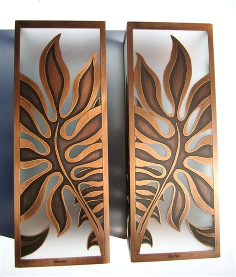 monstera sconces tropical wall sconces hawaii by