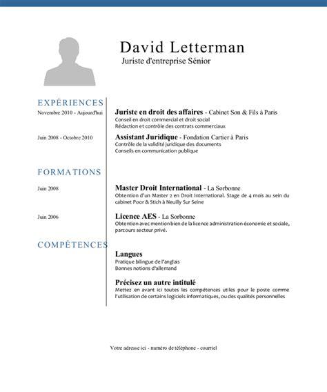 Comment Ecrire Un Cv by Ecrire Un Curriculum Vitae Exemple Masque Cv Moto Bip