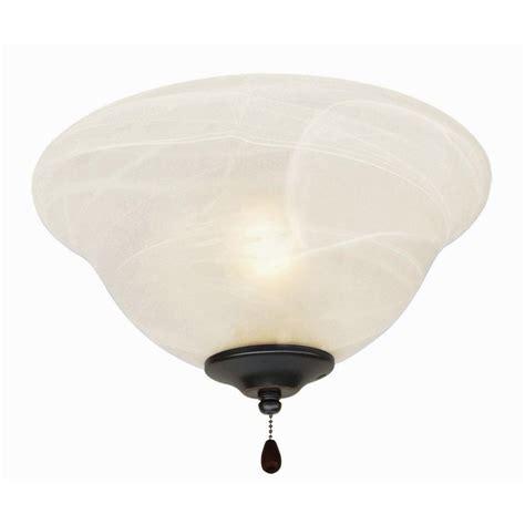 ceiling fan glass bowl design house 3 light oil rubbed bronze ceiling fan light