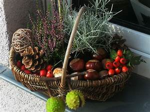 Herbstgestecke Selber Machen : herbstdeko korb herbst pinterest herbstdeko k rbchen und herbst ~ Frokenaadalensverden.com Haus und Dekorationen