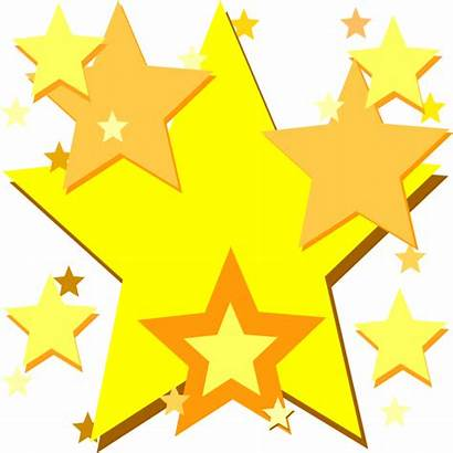 Stars Yellow Clip Star Clipart Animated Clker