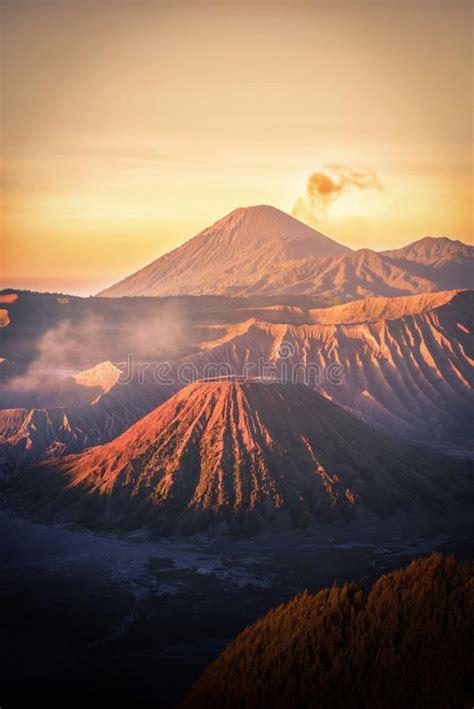 mount bromo volcano gunung bromo  sunrise  colorful