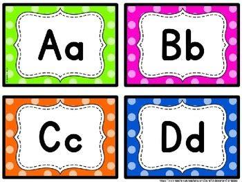 word wall letters  kindergarten printables teachers