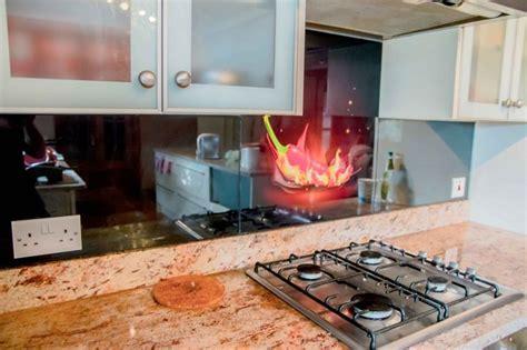 kitchen splashback ideas uk chilli printed glass kitchen splashback by