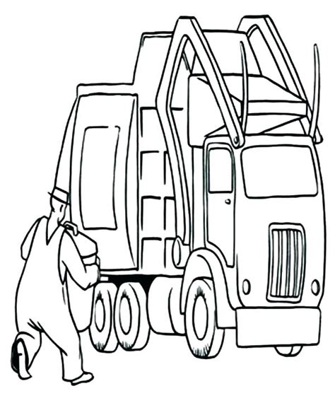 garbage truck coloring page  getcoloringscom  printable colorings pages  print  color